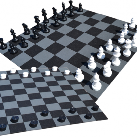 HEXDALLE® CHECKERS AND CHESS GAMES